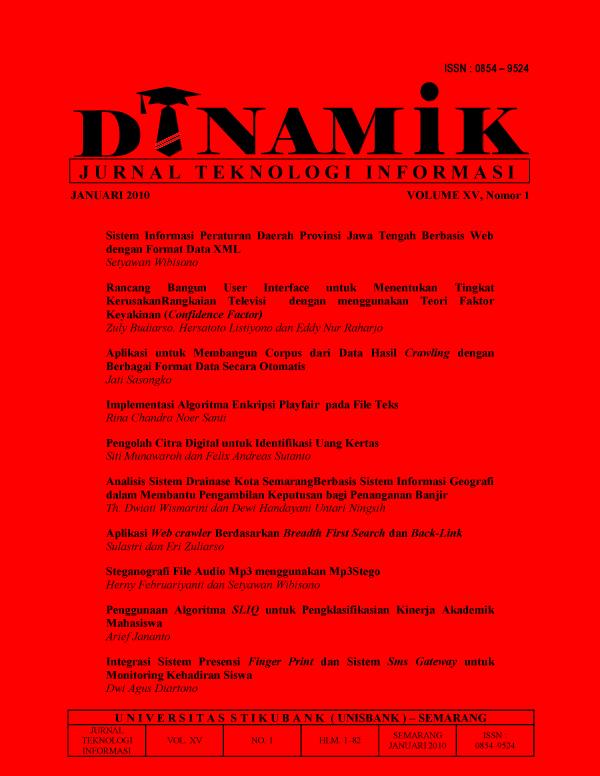 Analisis Sistem Drainase Kota Semarang Berbasis Sistem Informasi